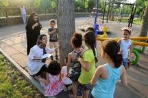 قصهخوانی خلاق همراه با نمایش مشارکتی کودکان در سطح پارکهای منطقه