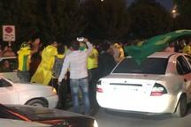 جشن و پایکوبی آبادانی ها پس از پیروزی صنعت نفت آبادان برابر سپاهان اصفهان
