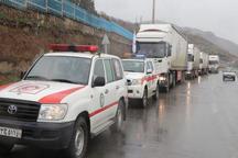 اولین محموله کمک های مردمی کردستان برای سیل زدگان ارسال شد
