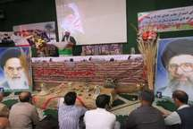 یادواره هشت شهید عملیات بیت المقدس شهرستان درمیان برگزار شد