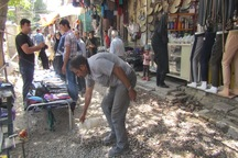 دستفروشان پیاده راه اکباتان همدان جمع آوری شدند