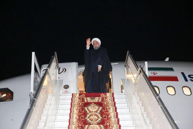 روحانی تبریز را به مقصد تهران ترک کرد