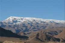 نخستین برف پاییزی، شیرکوه در استان یزد را سفیدپوش کرد