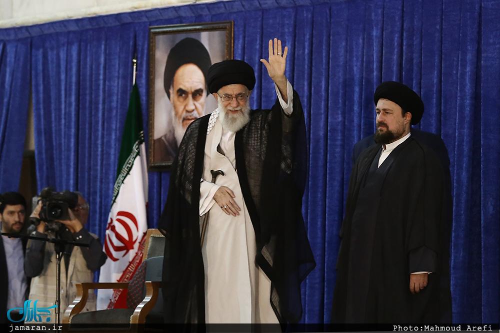 رهبر معظم انقلاب. سیدحسن خمینی . سالگرد امام. 14 خرداد 1396