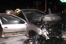 برخورد خودرو 206 با پراید در مهریز یک کشته بر جا گذاشت