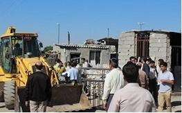 عملیات تخریب و رفع تصرف اراضی شهرداری در منطقه باغستان انجام شد