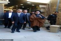 بازدید وزیر نیرو از بیت، مدرسه علمی و کتابخانه امام خمینی در نجف اشرف + تصاویر