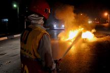 آتش سوزی 3 دستگاه خودروی سواری در غرب مازندران