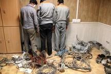 دستگیری سارقان کابل برق در شهرستان البرز