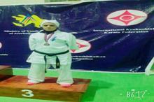 بانوی کاراته کای رفسنجانی در مسابقات بین المللی سوم شد