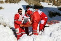نجات کوهنورد گیر افتاده در ارتفاعات دیزین البرز