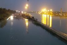 سیل بندهای مجاور رودخانه بهمنشیر و اروند صغیر تقویت شدند