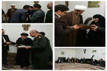 جمعی از مسوولان کرمانشاه از خانواده شهید 'عزیز پابرجا' تجلیل کردند