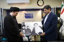 بازدید سید حسن خمینی از ایرنا-1