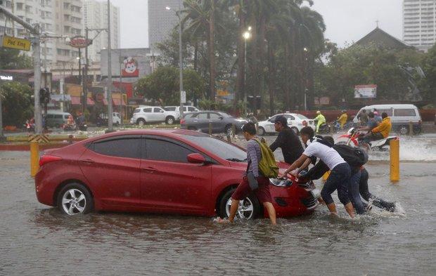 ابرطوفان در فیلیپین