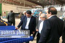 وزیر صنعت، معدن وتجارت از واحدهای تولیدی ایرانشهر بازدید کرد