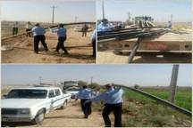 تجهیزات غیر مجاز برداشت آب از شبکه آبیاری دز جمع آوری شد