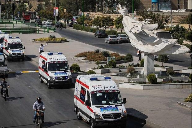 پنج دستگاه آمبولانس از اصفهان به اهواز اعزام شد