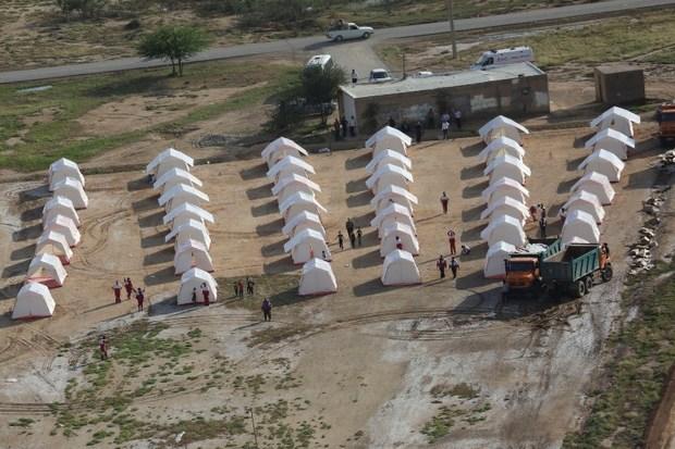 17 خانوار روستای چاه ژاله ای نهبندان به مکان امن منتقل شدند