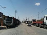 راننده کامیون ها در سکوت خبری اعتراض کردند+ تصاویر
