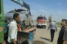 واژگونی پراید در دزفول یک کشته و 2 مصدوم بر جای گذاشت