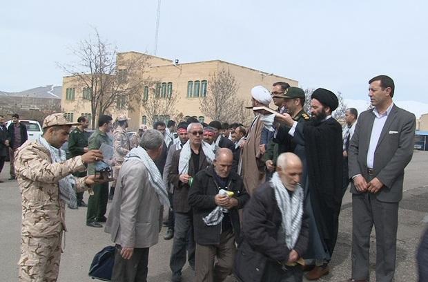 130 بسیجی شهرستان هریس به مناطق عملیاتی اعزام شدند