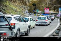 ترافیک در جاده کرج – چالوس سنگین است