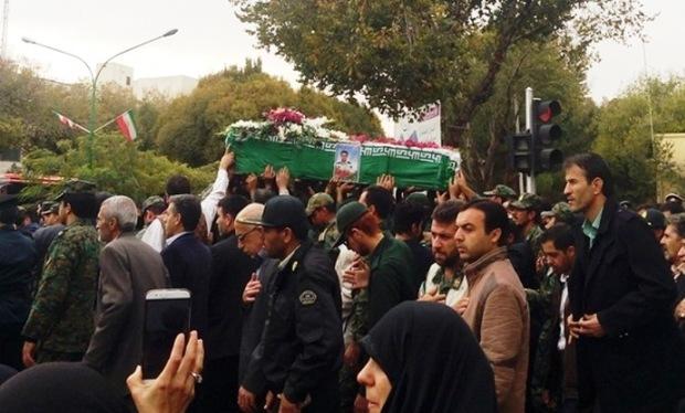 پیکر شهید نظم و امنیت در یزد تشییع شد
