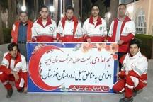 امدادگران هلال احمر نائین به خوزستان اعزام شدند