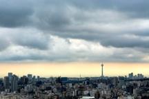 آسمان ابری و وزش باد برای استان تهران پیش بینی می شود