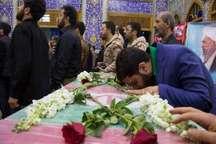 مراسم وداع با شهدای گمنام دوران دفاع مقدس در یزد برگزار شد