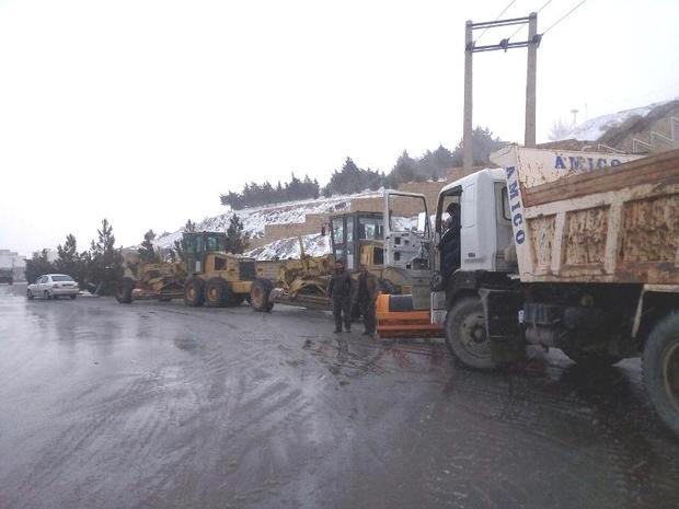 عملیات برفروبی شهرداری همدان آغاز شد