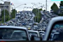 ترافیک سنگین در آزاد راههای قزوین-کرج و کرج-تهران بارش باران در 3 استان شرقی کشور