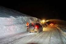 وقوع کولاک برف در گردنه های کوهرنگ چهارمحال و بختیاری