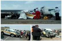 تصادف رانندگی زنجیره ای در جاده زنجان یک کشته و سه مصدوم برجا گذاشت