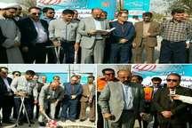 کلنگ زنی دو پروژه قرارگاه پلیس راه در خوزستان