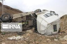 واژگونی تریلی در جاده مهاباد - بوکان یک کشته برجا گذاشت