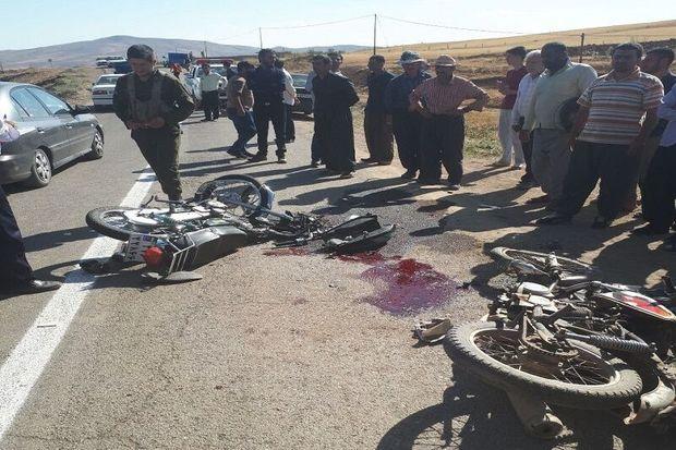 ۲ موتورسیکلتسوار در تصادف جاده روستایی تکاب کشته شدند