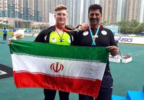 نماینده ایران به مدال طلای پرتاب وزنه دست یافت