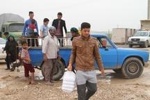 یک گروه جهادی 45 تن اقلام بین سیل زدگان خوزستان توزیع کرد
