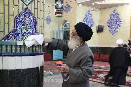 آئین غباروبی مساجد در ورامین آغاز شد
