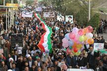 راهپیمایی 22 بهمن در شهرستان شوش برگزار شد