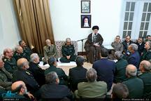 دیدار نوروزی فرماندهان ارشد نیروهای مسلح با فرمانده کل قوا