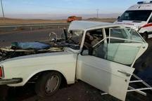 برخورد سه خودرو در مهاباد یک کشته برجا گذاشت