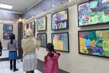 نقاشی های کودکان کار شیراز بر دیوارهای فرهنگسرای هنر نشست