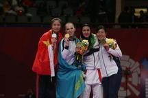 پگاه زنگنه مدال برنز کاراته را کسب کرد