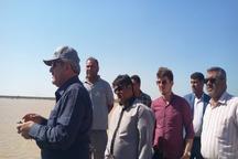 عملیات مهار سیلاب جاری به سمت خرمشهر با شتاب ادامه دارد