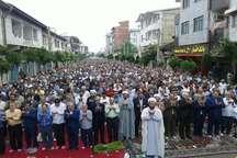 نماز عید سعید فطر در آستارا اقامه شد