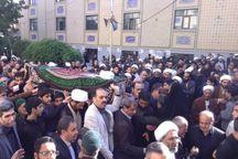 پیکر حجت الاسلاموالمسلمین علیاصغر قاضیزاده در اراک تشییع شد