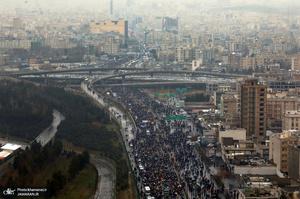 تصاویر هوایی راهپیمایی مردم تهران